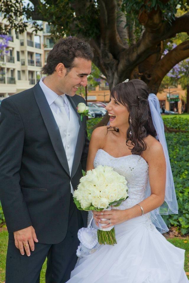 Emily and my husband Nikolas Christos. Image courtesy of Emily Christos.