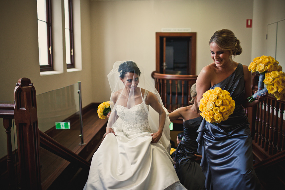 Wedding was on 20/06/15 we had our ceremony at the Perth town Hall. Image courtesy of Meeka Liveris.