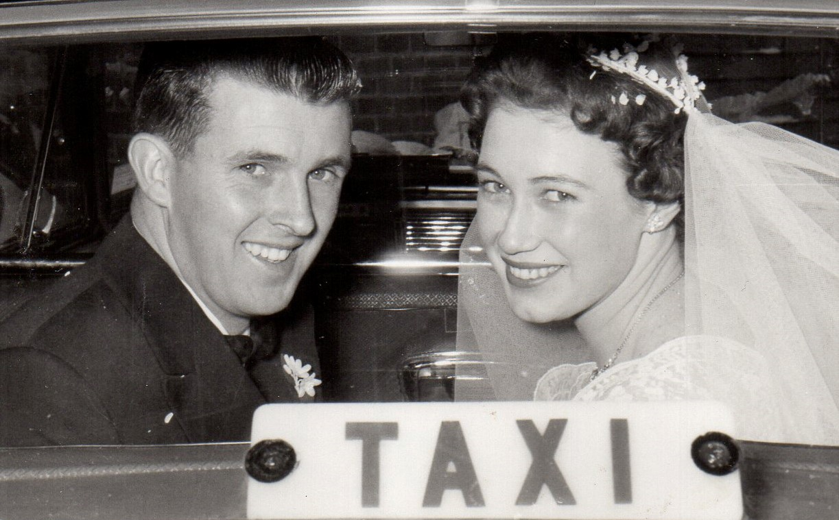 Kenneth William O'Donnell and Judith Elaine Brown were married on Saturday, 26 September 1959 at St Mary's Church in West Perth. Image courtesy of O'Connells.