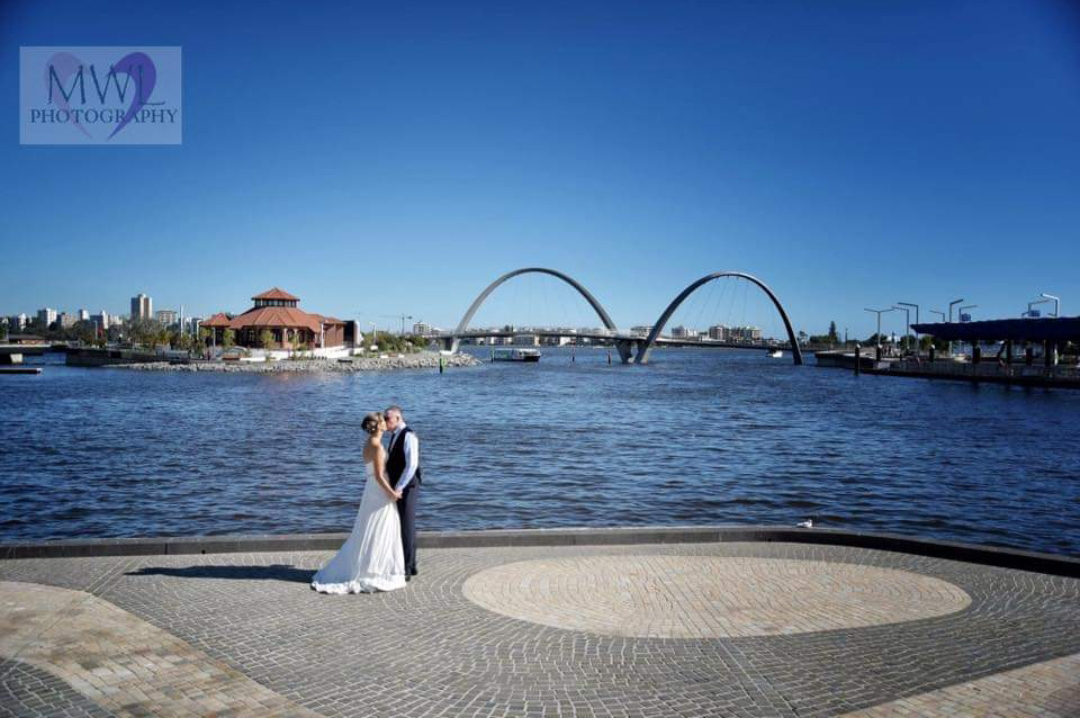 Married on 1st April 2016 at Elizabeth Quay. Image courtesy of Tracey Horner.